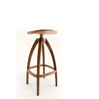 Draper Bar Stool Finish: Solid Walnut