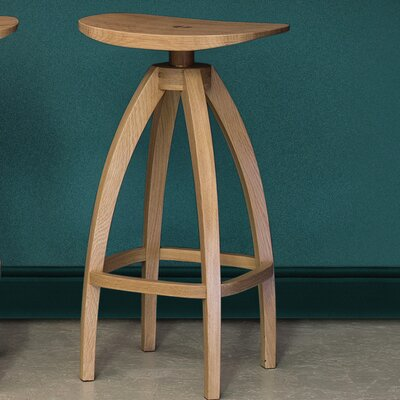 Draper Bar Stool Finish: Solid oak