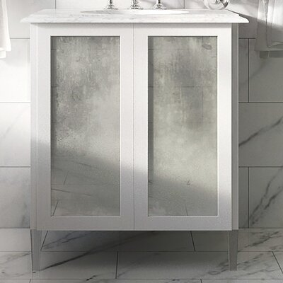 Jackson Series Cooper 30 Mirror Vanity Base Base Finish: White Gloss