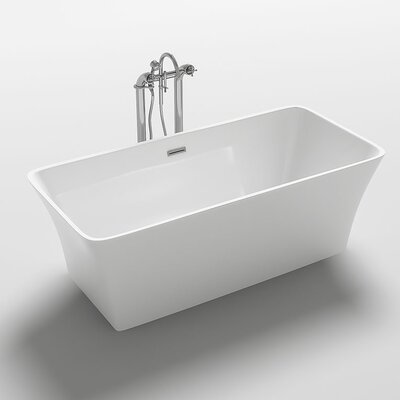 Trasimeno 67 x 31.5 Freestanding Soaking Bathtub