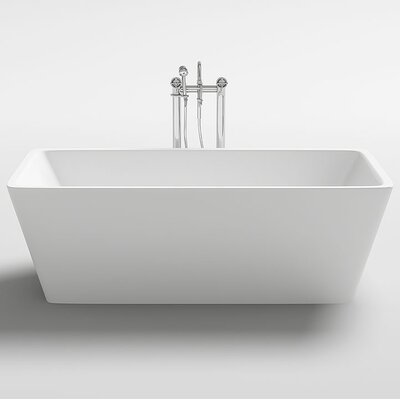 Garda 59.1 x 29.5 Freestanding Soaking Bathtub