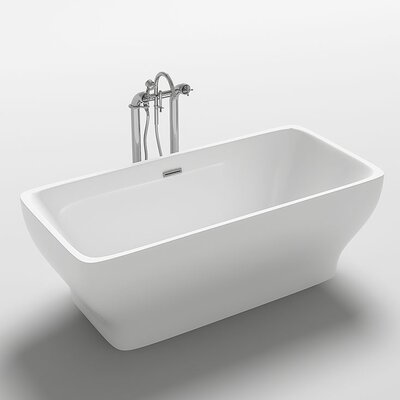 Como 67 x 31.5 Freestanding Soaking Bathtub