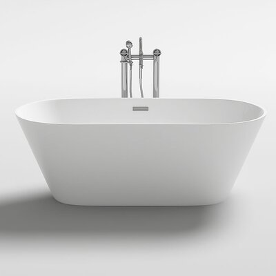 Lugano 59.1 x 29.5 Freestanding Soaking Bathtub