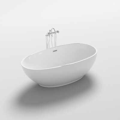 Sangro 70.9 x 35.4 Freestanding Soaking Bathtub