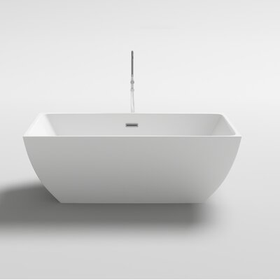 Brenta 66.9 x 29.5 Freestanding Soaking Bathtub