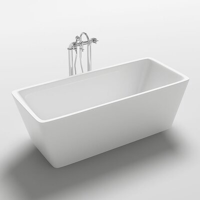 Garda 67 x 31.5 Freestanding Soaking Bathtub