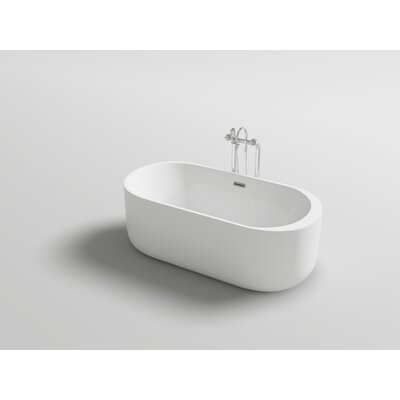 Piave 67 x 31.5 Freestanding Soaking Bathtub