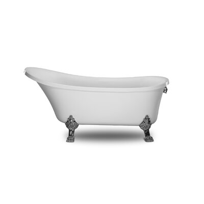 Cesano 63 x 28.3 Freestanding Soaking Bathtub Color: White