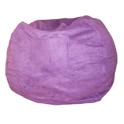 Micro Suede Personalized Chair Bean Bag Color: Purple