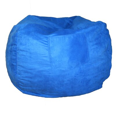 Micro Suede Personalized Chair Bean Bag Color: Royal Blue