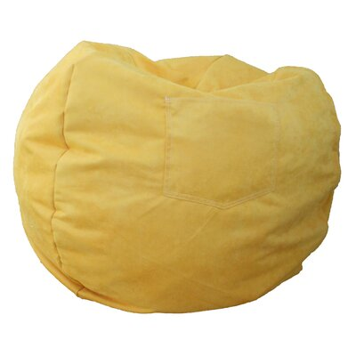 Micro Suede Personalized Chair Bean Bag Color: Canary Yellow