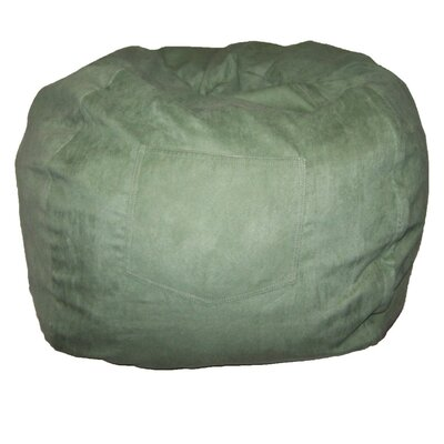 Micro Suede Personalized Chair Bean Bag Color: Green