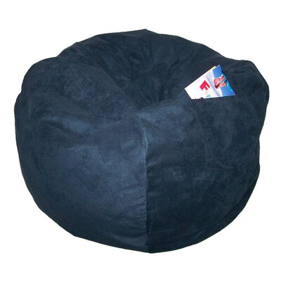 Bean Bag Chair Size: 28, Upholstery: Navy