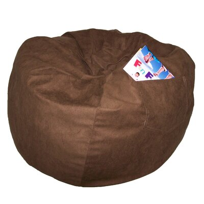 Bean Bag Chair Size: 28, Upholstery: Brown