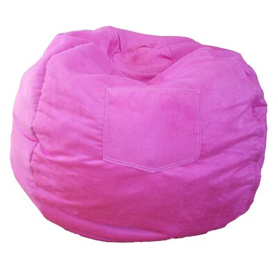 Micro Suede Personalized Chair Bean Bag Color: Fuchsia