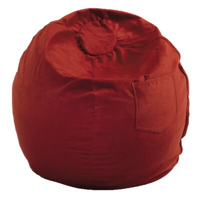Bean Bag Chair Size: 28, Upholstery: Red