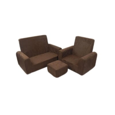 3 Piece Kids Sofa Chair and Ottoman Set 65204