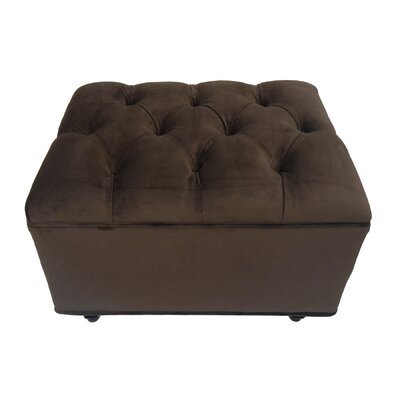 Hittle Cocktail Ottoman Upholstery: Chocolate Bella