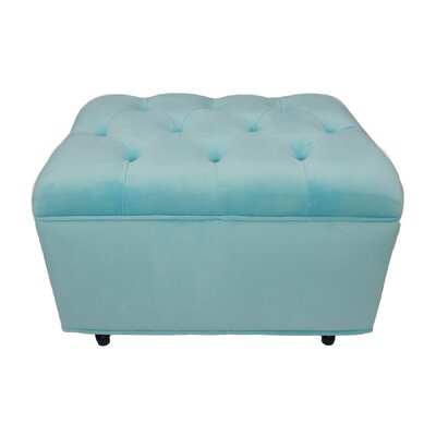 Hittle Cocktail Ottoman Upholstery: Aqua