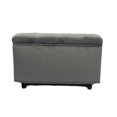 Tres Chic Glider Ottoman Upholstery: Gray