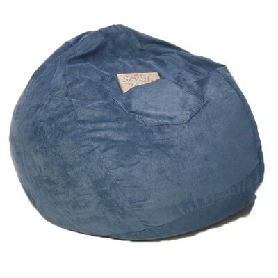 Micro Suede Personalized Chair Bean Bag Color: Blue