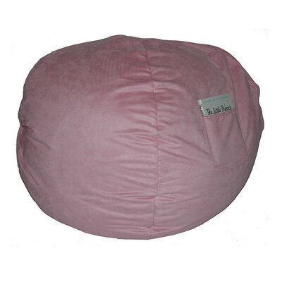 Micro Suede Personalized Chair Bean Bag Color: Pink