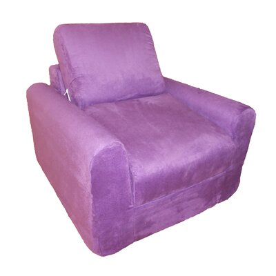 Child Armchair Upholstery: Suede - Purple