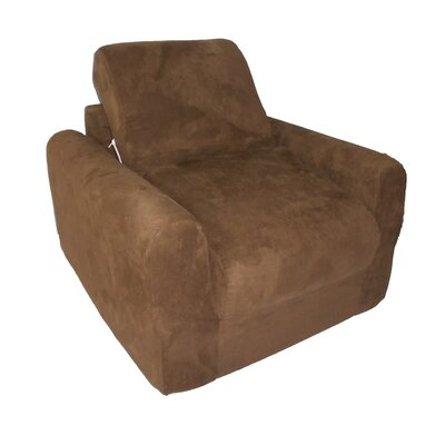 Child Armchair Upholstery: Suede - Brown