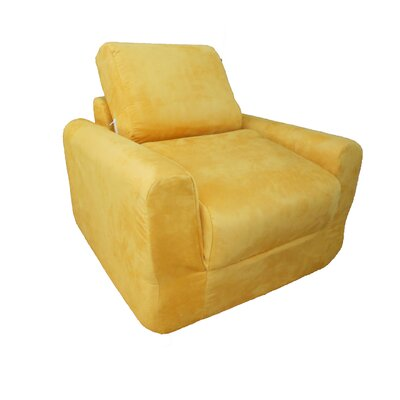 Child Armchair Upholstery: Suede - Canary