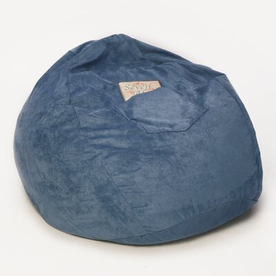Bean Bag Chair Size: 26, Upholstery: Blue