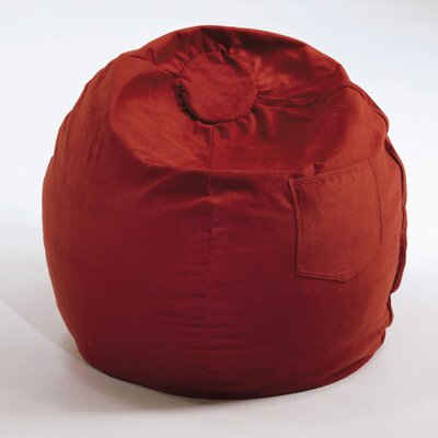 Bean Bag Chair Upholstery: Red, Size: 28