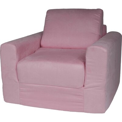 Child Armchair Upholstery: Suede - Pink