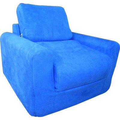 Child Arm Chair Color: Suede - Royal Blue