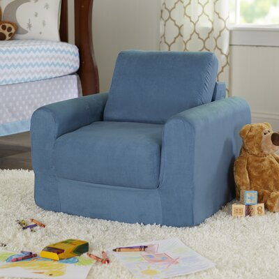 Child Armchair Upholstery: Suede - Blue