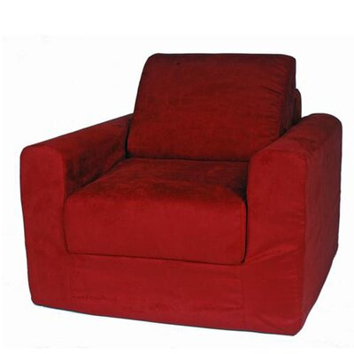 Child Armchair Upholstery: Suede - Red