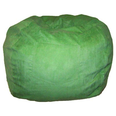 Micro Suede Personalized Chair Bean Bag Color: Lime Green