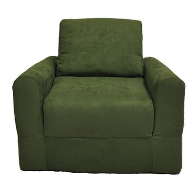 Child Armchair Upholstery: Suede - Green