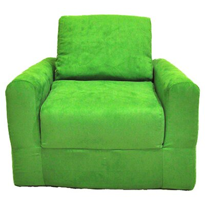 Child Armchair Upholstery: Suede - Lime Green