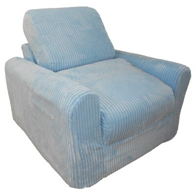 Child Armchair Upholstery: Chenille - Blue