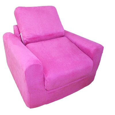 Child Armchair Upholstery: Suede - Fuchsia