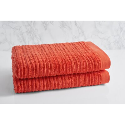 Solid Oversized Bath Towel Color: Sunset Orange