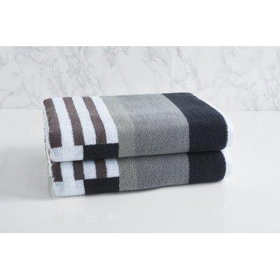 Trestle Bath Towel Color: Gray