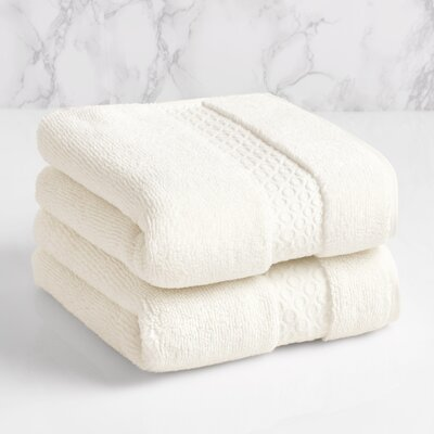 100% Cotton Hand Towel Color: Sugar Swizzle
