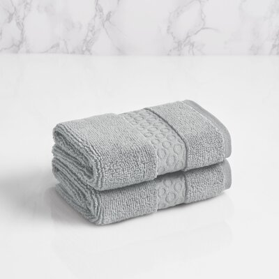 100% Cotton Washcloth Color: Soft Silver