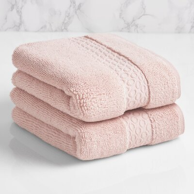 100% Cotton Hand Towel Color: Morganite