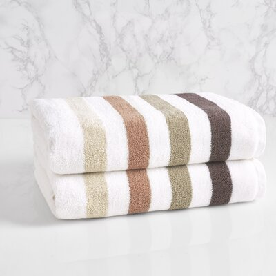 Bars Bath Towel Color: Neutral