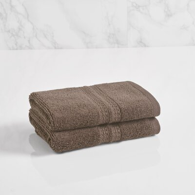 Essentials Solid Washcloth Color: Plum Truffle