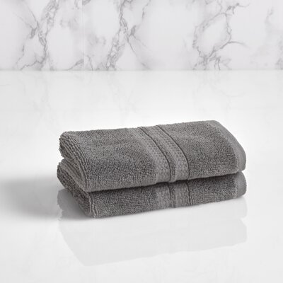 Essentials Solid Washcloth Color: Charcoal