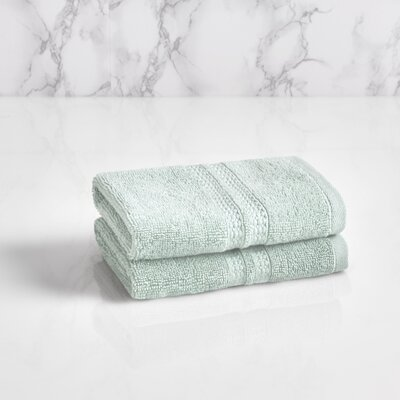 Essentials Solid Washcloth Color: Sterling Blue