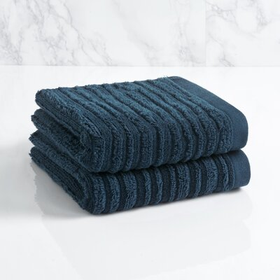 Solid Hand Towel Color: Midnight Blue